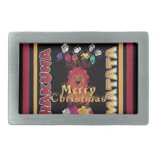 Beautiful Merry Christmas Hakuna Matata Latest Art Belt Buckles