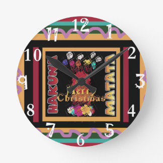 Beautiful Merry Christmas Hakuna Matata Latest Art Clock