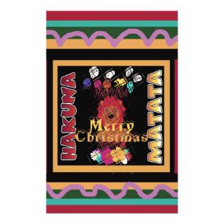 Beautiful Merry Christmas Hakuna Matata Latest Art Custom Stationery