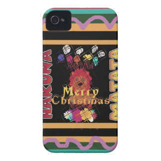 Beautiful Merry Christmas Hakuna Matata Latest Art iPhone 4 Case