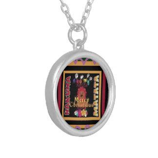 Beautiful Merry Christmas Hakuna Matata Latest Art Silver Plated Necklace