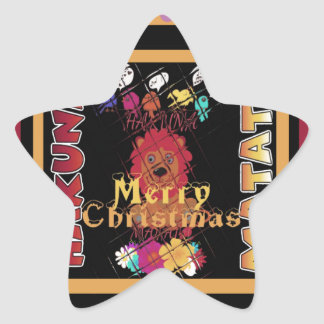 Beautiful Merry Christmas Hakuna Matata Latest Art Star Sticker