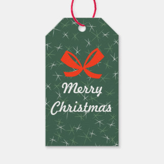 Beautiful Merry Christmas Holiday Gift Tags