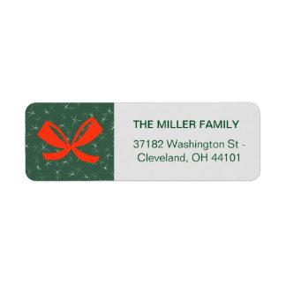 Beautiful Merry Christmas Return Address Label