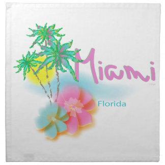 Beautiful Miami Florida Napkin