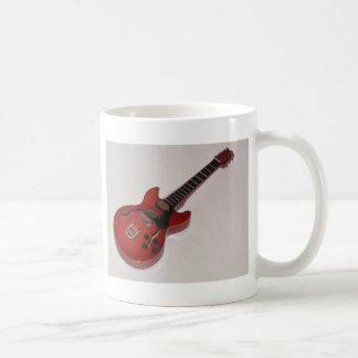 Beautiful Miniature Acoustic and Electric Guitars Basic White Mug