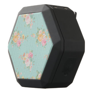 beautiful, mint,shabby chic, country chic, floral, black bluetooth speaker