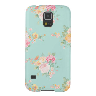 beautiful, mint,shabby chic, country chic, floral, galaxy s5 case