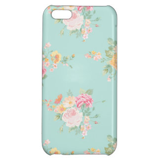 beautiful, mint,shabby chic, country chic, floral, iPhone 5C case