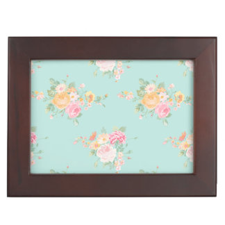 beautiful, mint,shabby chic, country chic, floral, keepsake box