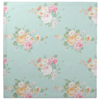 beautiful, mint,shabby chic, country chic, floral, napkin