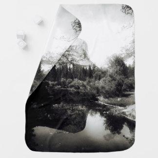 Beautiful Mirror Lake Yosemite | Black and White Baby Blanket