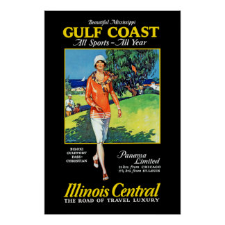 Beautiful Mississippi ~ Gulf Coast Poster