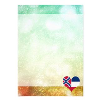 Beautiful Mississippian 13 Cm X 18 Cm Invitation Card