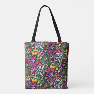 Beautiful mix of flowes landscape tote bag