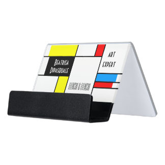 Beautiful Modern Art one-of-a-kind customizable Desk Business Card Holder