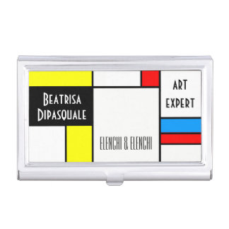 Beautiful Modern Art unique customizable Business Card Holder