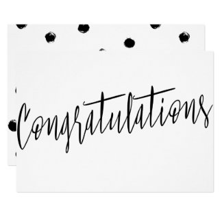 "Beautiful modern chic ""Congratulations"" 13 Cm X 18 Cm Invitation Card"