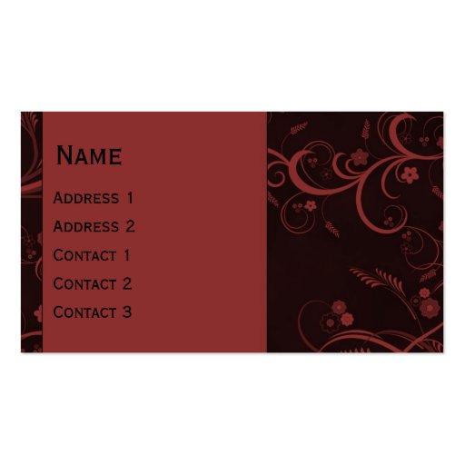 Beautiful modern curls design business card template