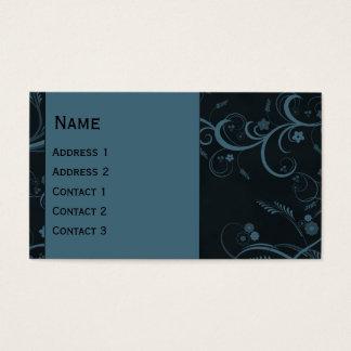 Beautiful modern curls design business card