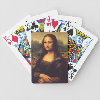 Beautiful Mona Lisa Bicycle Playing Cards