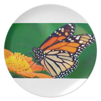 Beautiful Monarch Butterfly Plate