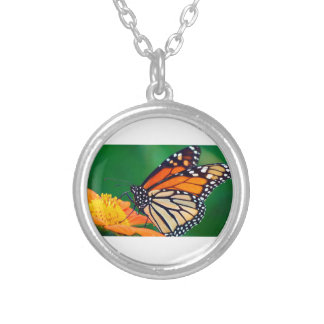Beautiful Monarch Butterfly Silver Plated Necklace