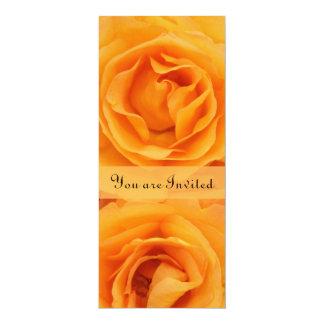 Beautiful Monogram Yellow Orange Hybrid Tea Roses 10 Cm X 24 Cm Invitation Card