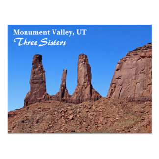 Beautiful Monument Valley, Three Sisters Postcard! Postcard