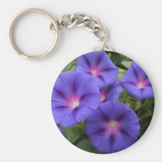 Beautiful Morning Glories in Bloom Key Ring