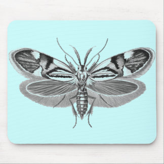 Beautiful moth pencil drawing mouse pad