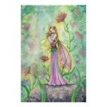 Beautiful Mother and Baby Fairy Poster Print