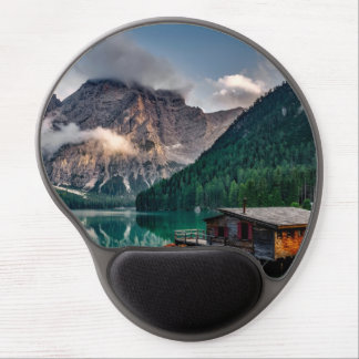 Beautiful mountain and lake landscape in Italy Gel Mouse Pad