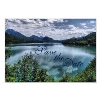 Beautiful Mountain Lake Wedding Save the Date Card
