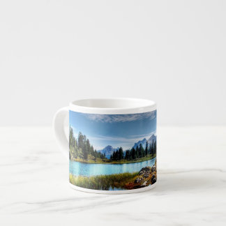 Beautiful Mountain Meadows Lake Espresso Mug