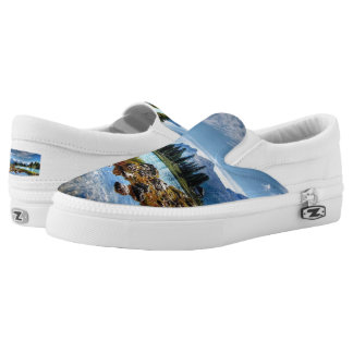 Beautiful Mountain Meadows Scenery Slip-On Shoes