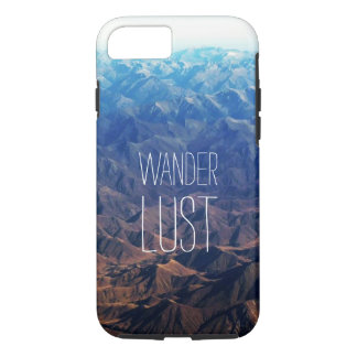 Beautiful mountain range with beautiful Typography iPhone 7 Case