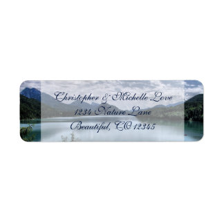 Beautiful Mountains and Lake Address Return Address Label