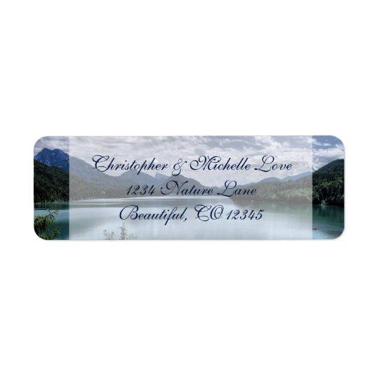 Beautiful Mountains and Lake Address Return Address Label