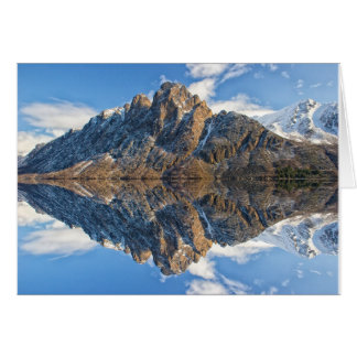 Beautiful Mountains & Ocean Scene Greeting Card