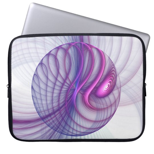 Beautiful Movements Abstract Fractal Art Pink Laptop Sleeve