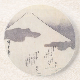 Beautiful Mt. Fuji in Japan, circa 1800s Beverage Coasters