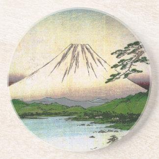 Beautiful Mt. Fuji in Japan, circa 1800s Coasters
