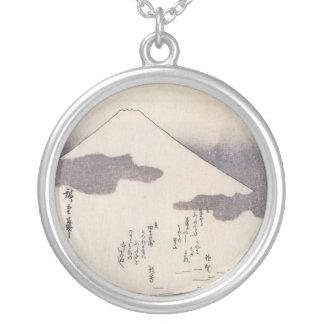 Beautiful Mt. Fuji in Japan, circa 1800s Round Pendant Necklace