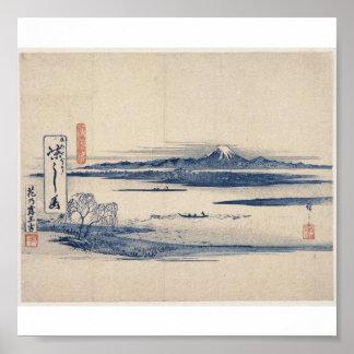 Beautiful Mt. Fuji in Japan circa 1800s Poster