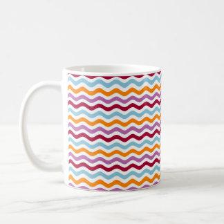 Beautiful mug retro waves