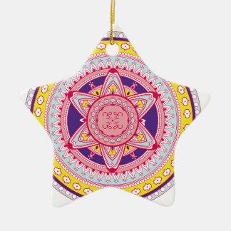 Beautiful Multi Colored Mandala Star Ornament