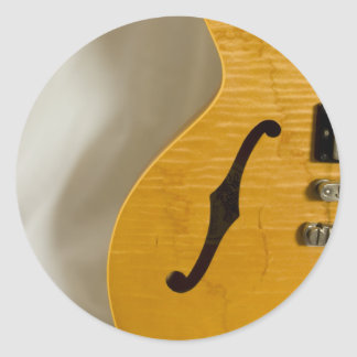 Beautiful Music--Gibson ES-335 Classic Round Sticker