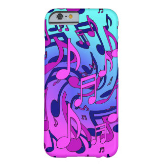 Beautiful Music Musical Pattern Pink Purple Aqua Barely There iPhone 6 Case