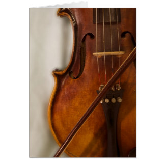 Beautiful Music--Violin Card
